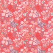 Moda Canyon by Kate Spain - 4316 - Mesa, Coral and Peach Floral - 27222 16 - Cotton Fabric